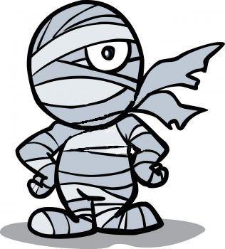 Halloween Mummy Clipart 2.