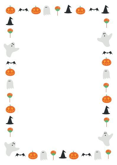 A great Halloween themed page border. ….