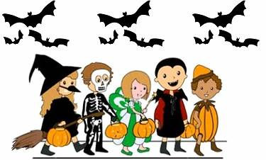 Costume clipart halloween parade pencil and in color costume.