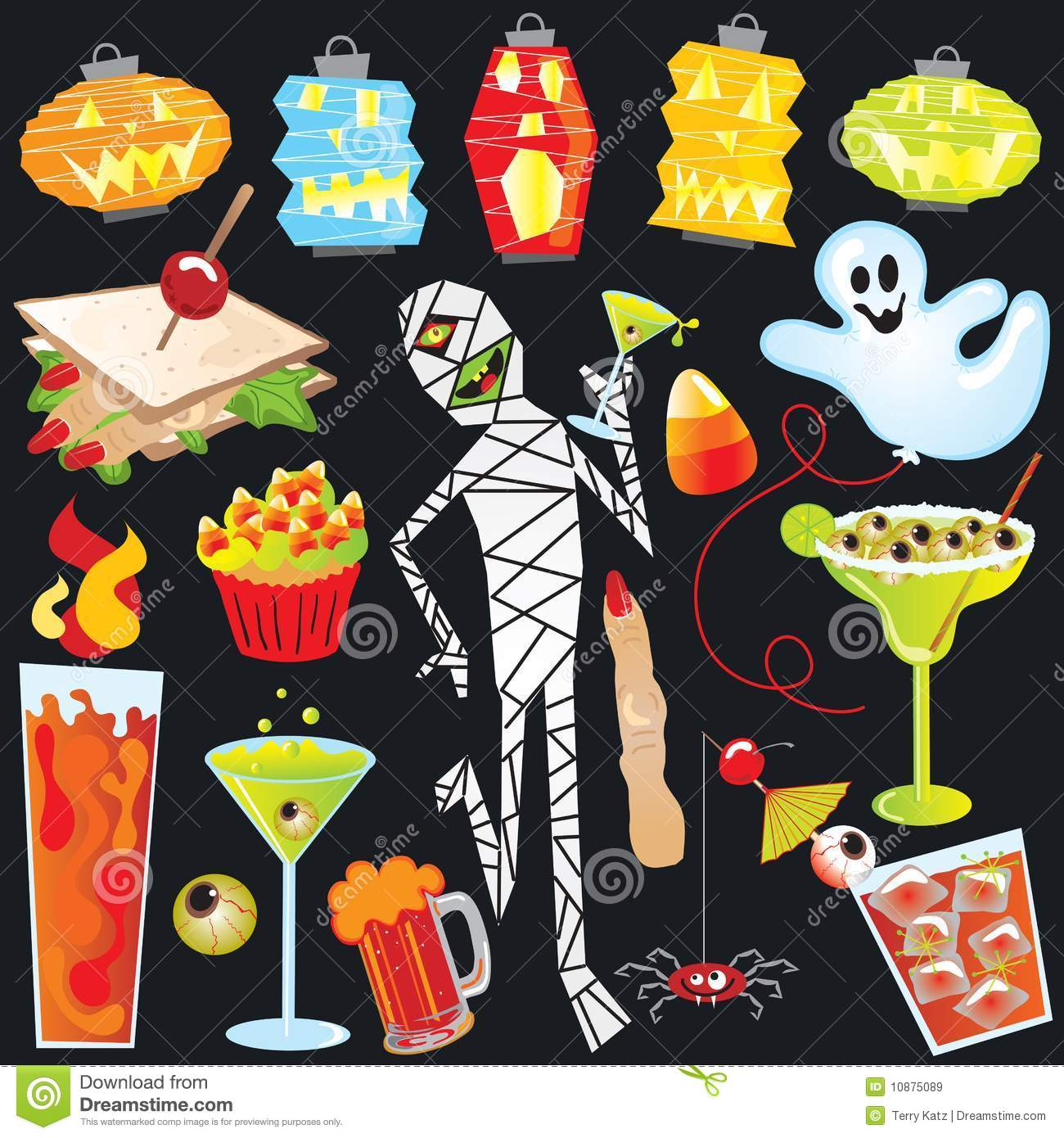 Halloween Party Clip Art Royalty Free Stock Images.