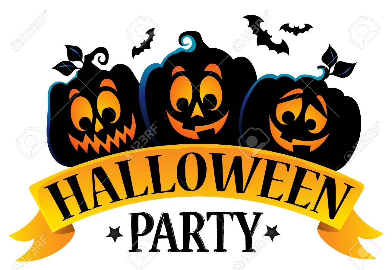 Halloween party sign theme image 1..