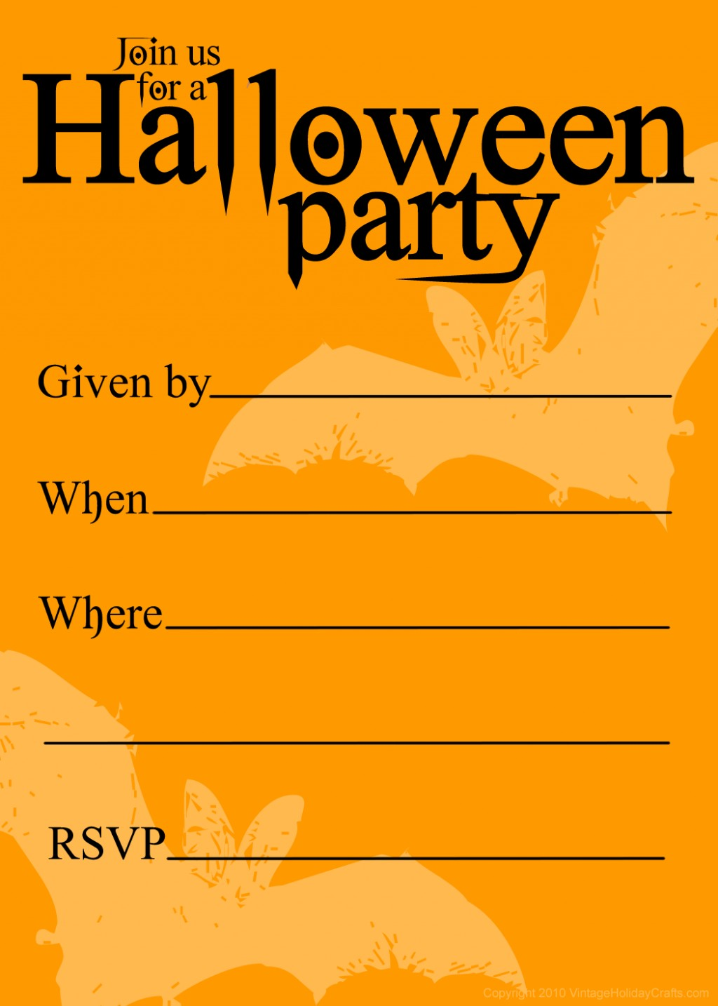 Halloween Party Invitation Clipart. Snowjet.co.