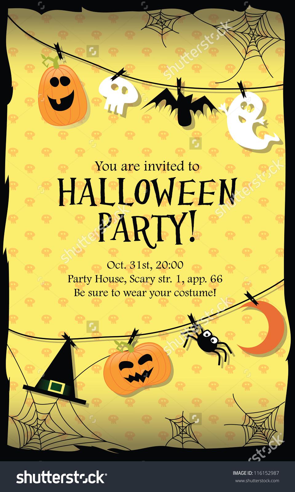 43+ Halloween Party Invitation Clipart.