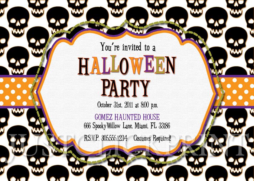 Halloween Party Invitation Clipart.