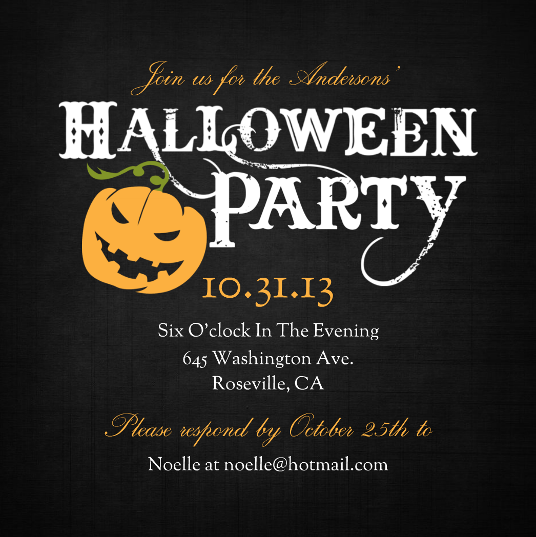 43+ Halloween Party Invitation Clipart.