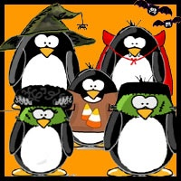 Penguins clipart halloween, Penguins halloween Transparent.