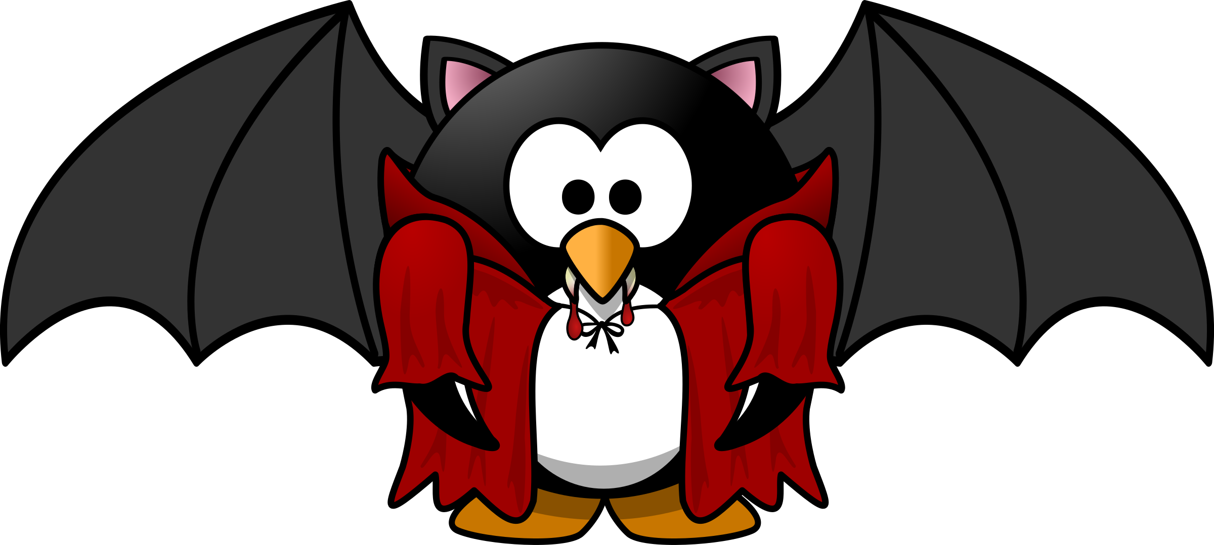 Clipart halloween penguin, Clipart halloween penguin.