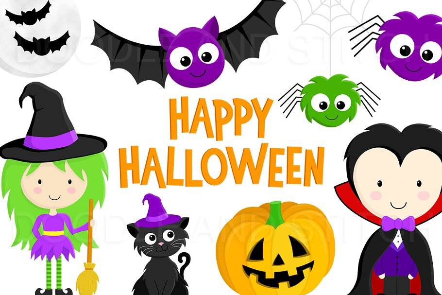 Halloween Clipart Illustrations.