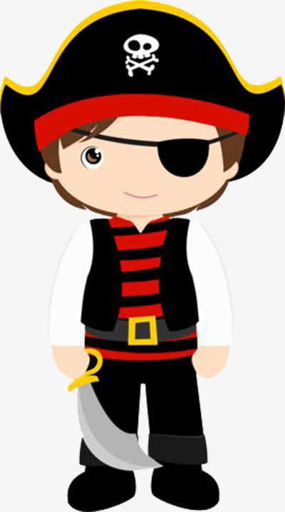 Pirate Boy, Pirate Clipart, Boy Clipart, Decorative Material PNG.