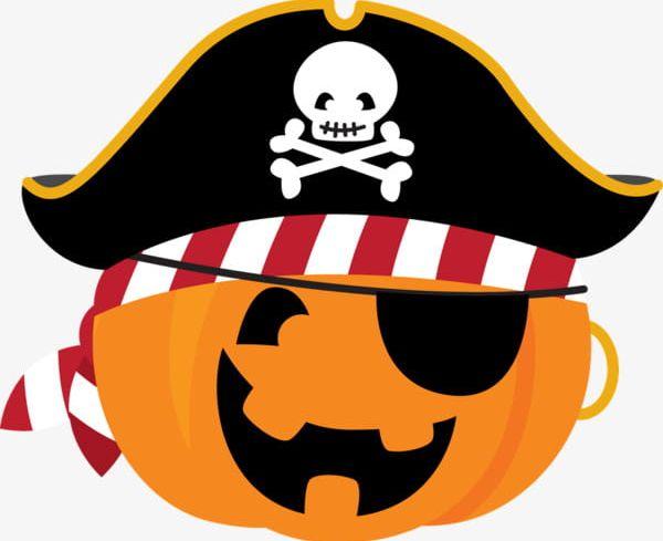 Pirate Style Pumpkin PNG, Clipart, Black, Black Pirate Hat, Decorate.