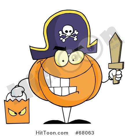 Halloween Pirate Clipart #1.