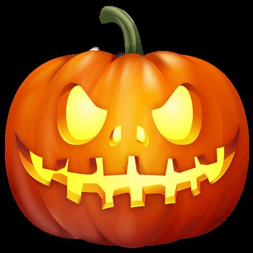 Front Halloween Pumpkin transparent PNG.