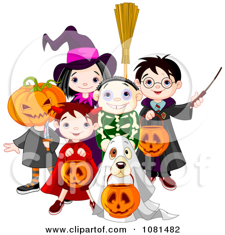 Printable Clipart of Halloween Pumpkin Patch Cartoon Posters, Art.