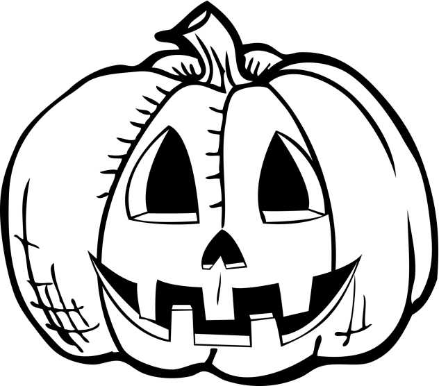 Free Halloween Pumpkin Clipart Black And White, Download.