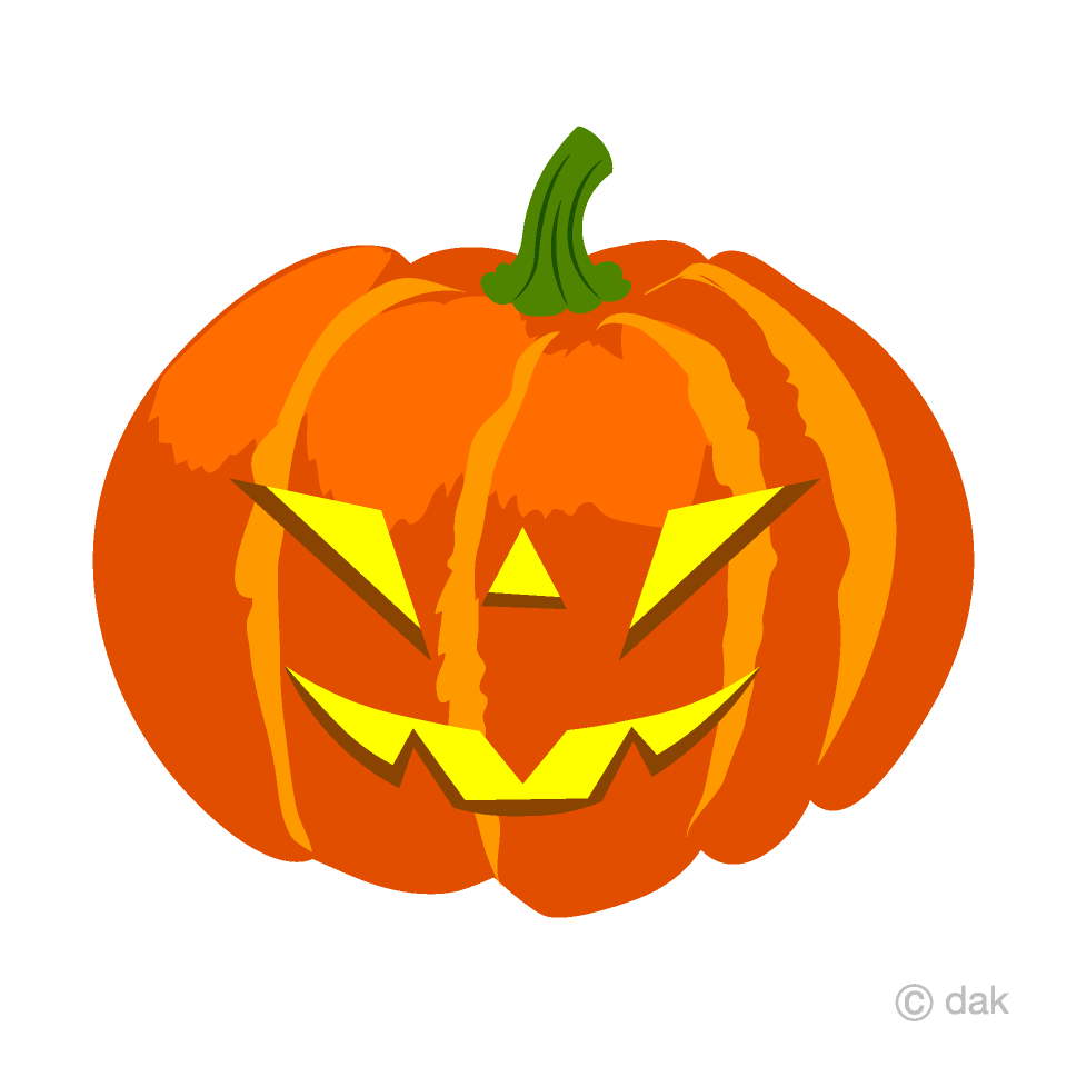 Free Glowing Cool Halloween Pumpkin Clipart Image|Illustoon.
