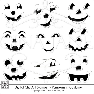 Free Ghost & Pumpkin face Templates.