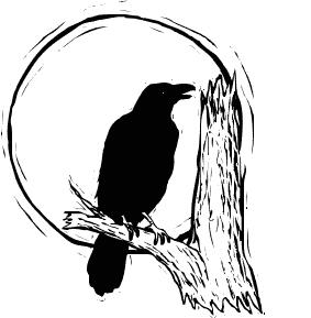 Halloween Raven Clipart.