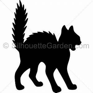 halloween scary black cat clip art.