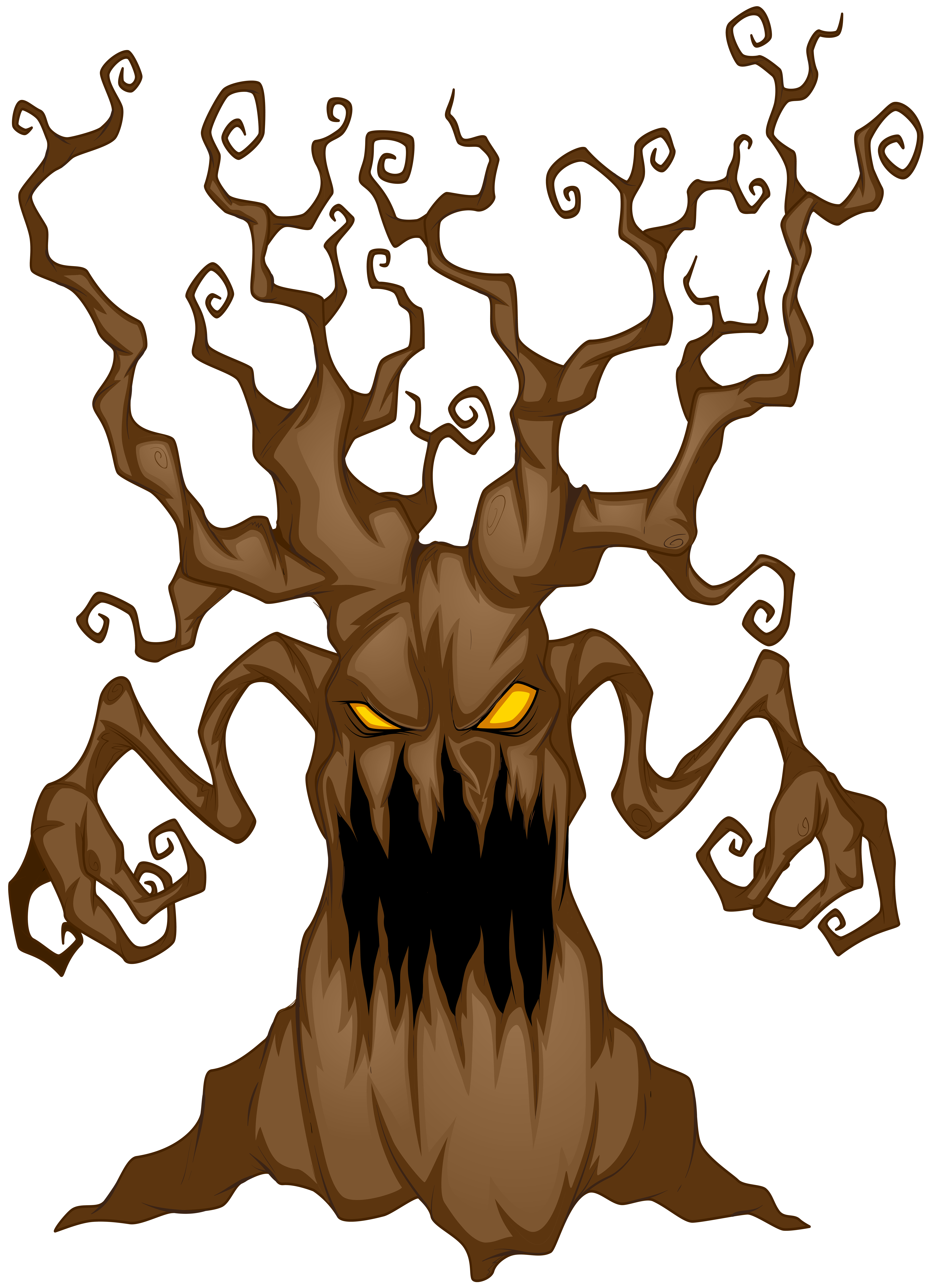 Halloween Scary Tree PNG Clip Art Image.