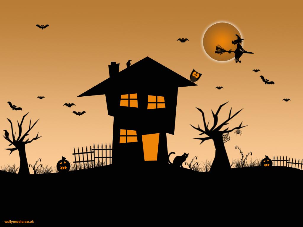 halloween scene clipart - Clipground