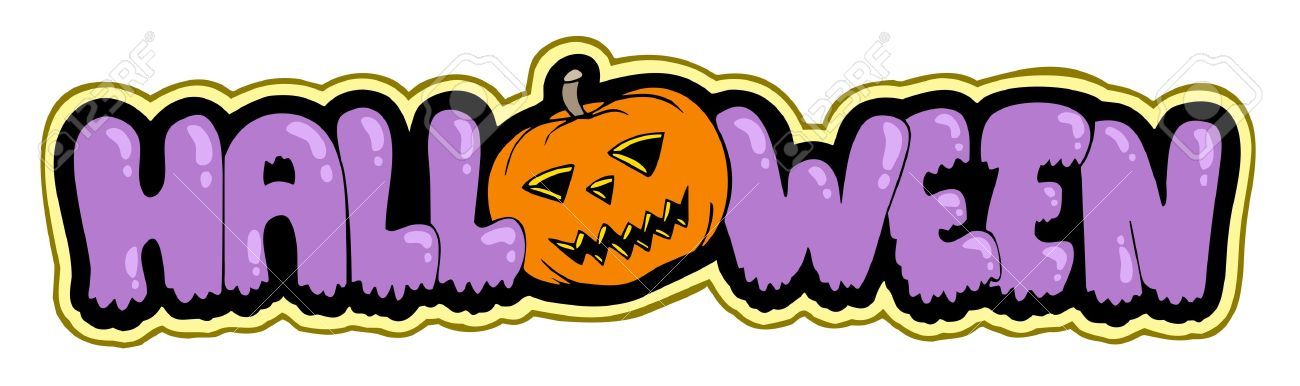 Halloween Sign With Pumpkin Royalty Free Cliparts, Vectors, And.