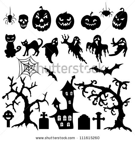 Halloween Silhouette Stock Images, Royalty.