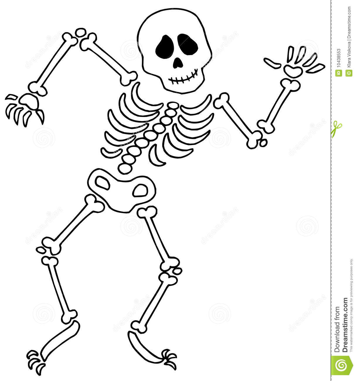 Free Halloween Skeleton Clipart.