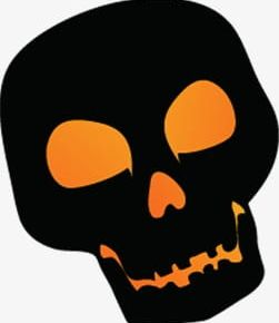 Painted Black Halloween Skull PNG, Clipart, Black, Black Clipart.