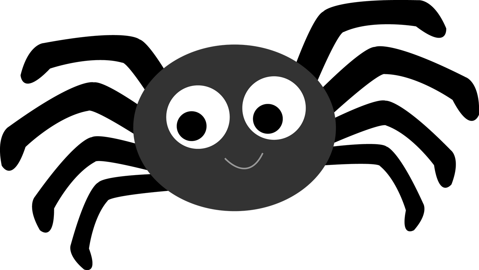 Halloween spider clipart black and white 7 » Clipart Portal.