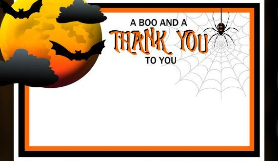 Halloween Thank You Cards.