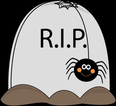 Halloween Gravestone Clipart.
