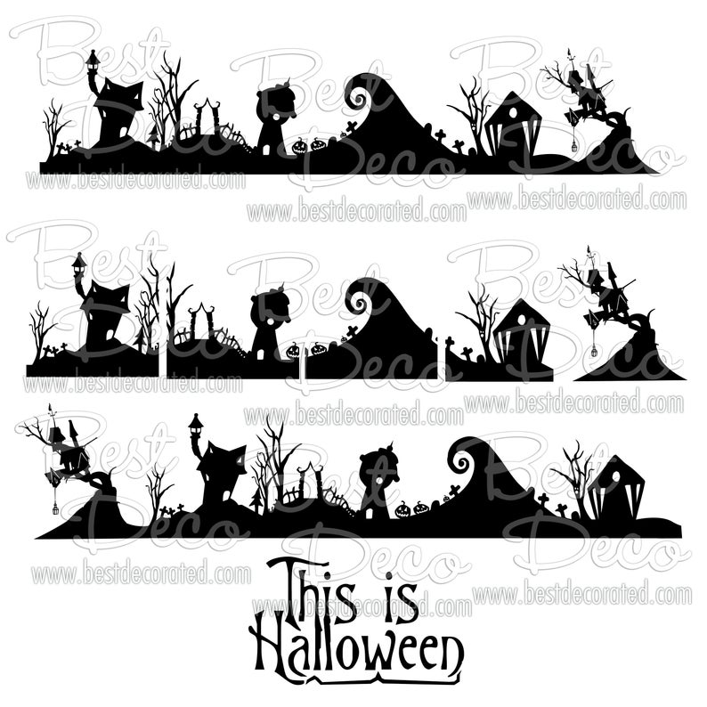 Nightmare before Christmas Halloween town DIY stand up paper.
