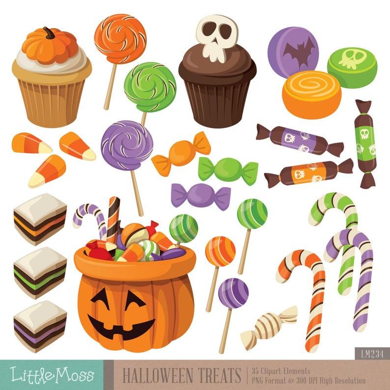 Halloween Treats Digital Clipart.