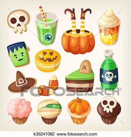 Halloween treats. Clipart.