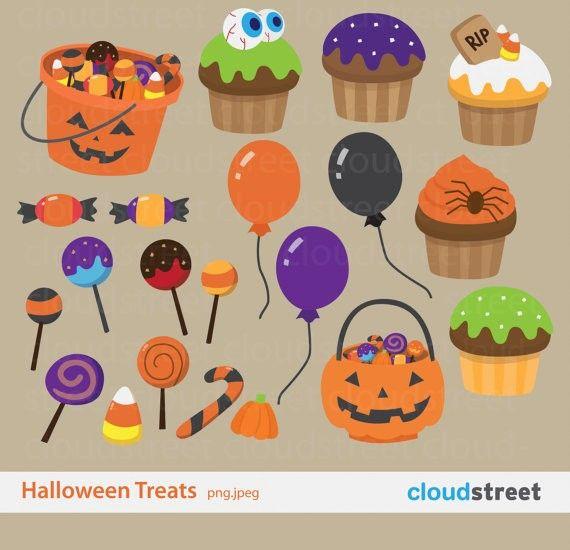 Halloween Treats Clipart for personal.halloween clipart #Halloween.