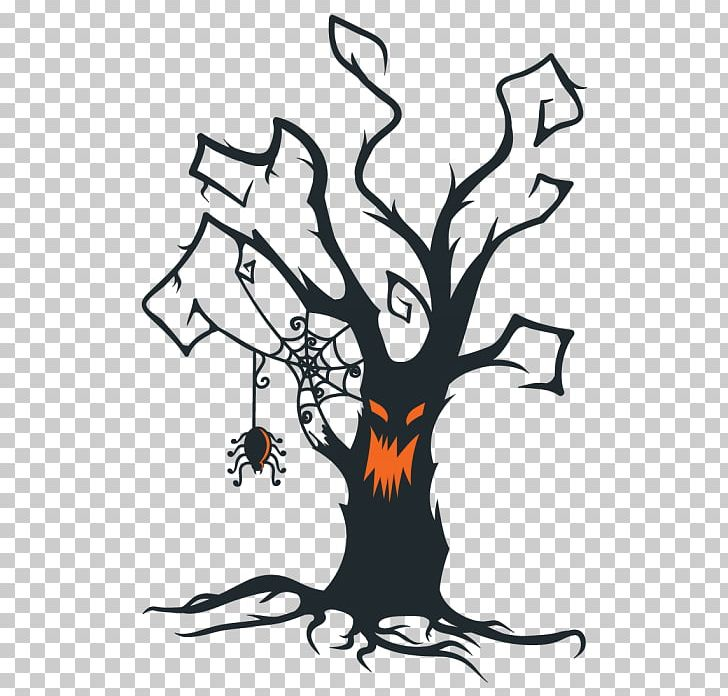 The Halloween Tree PNG, Clipart, Art, Artwork, Black And White.