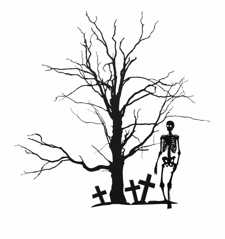Halloween Tree Clipart Png Free PNG Images & Clipart Download.