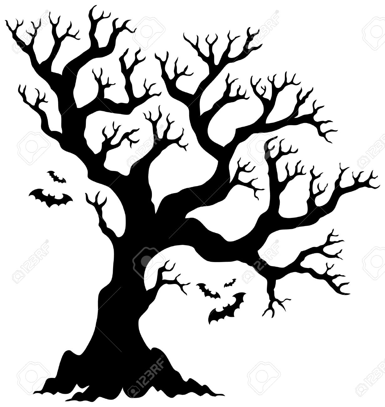 halloween tree silhouette clipart