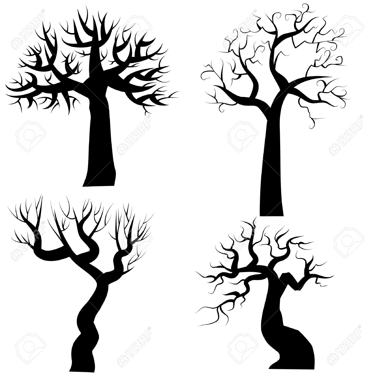 Halloween Tree Silhouette Clipart Clipground