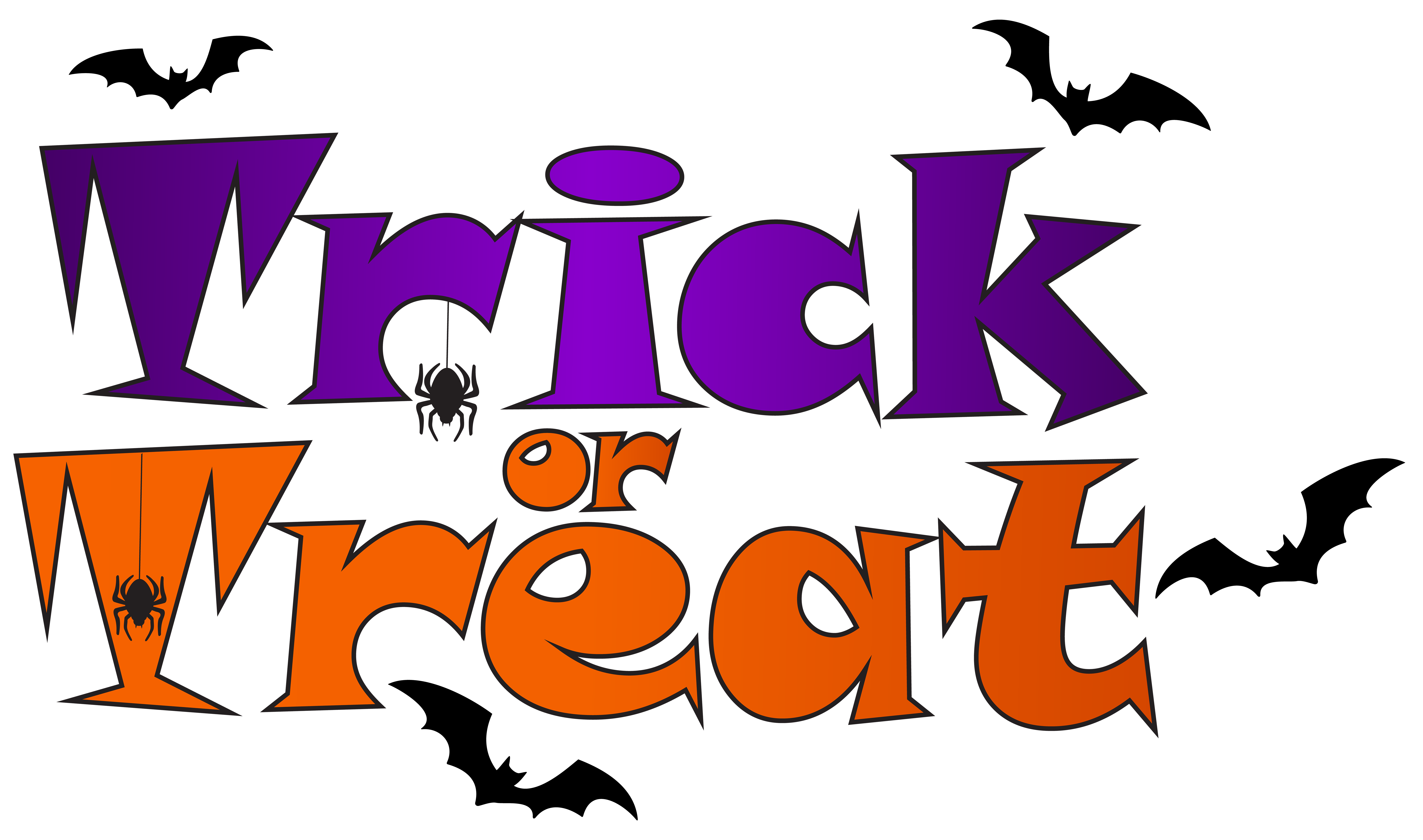 Trick or Treat PNG Clip Art.