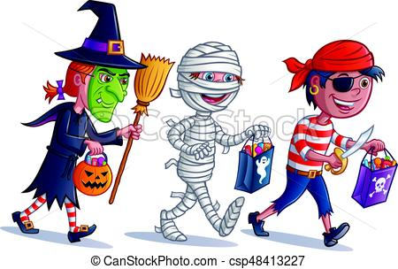 Trick or Treating Kids.
