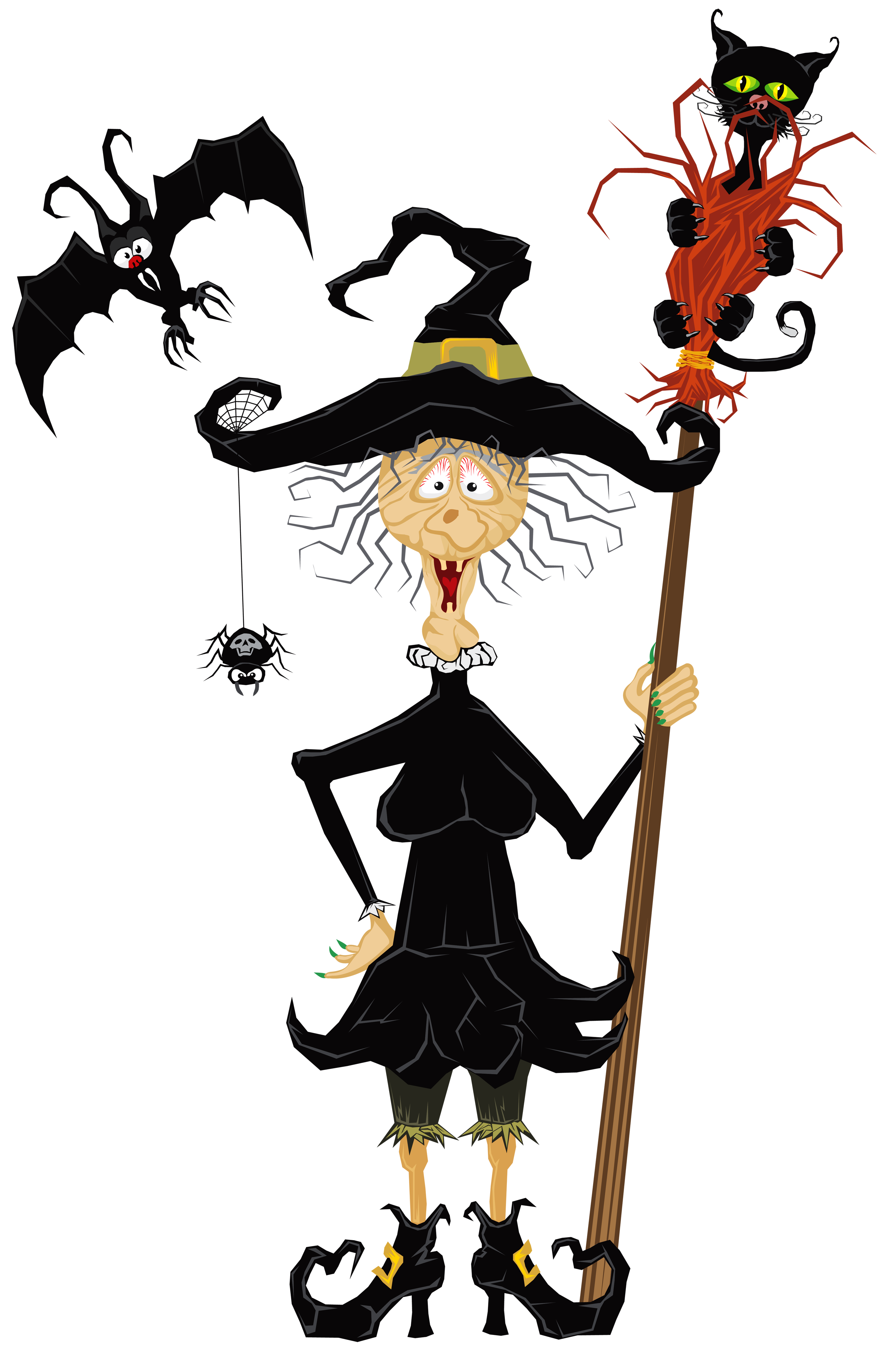 Halloween Creepy Witch PNG Clipart.