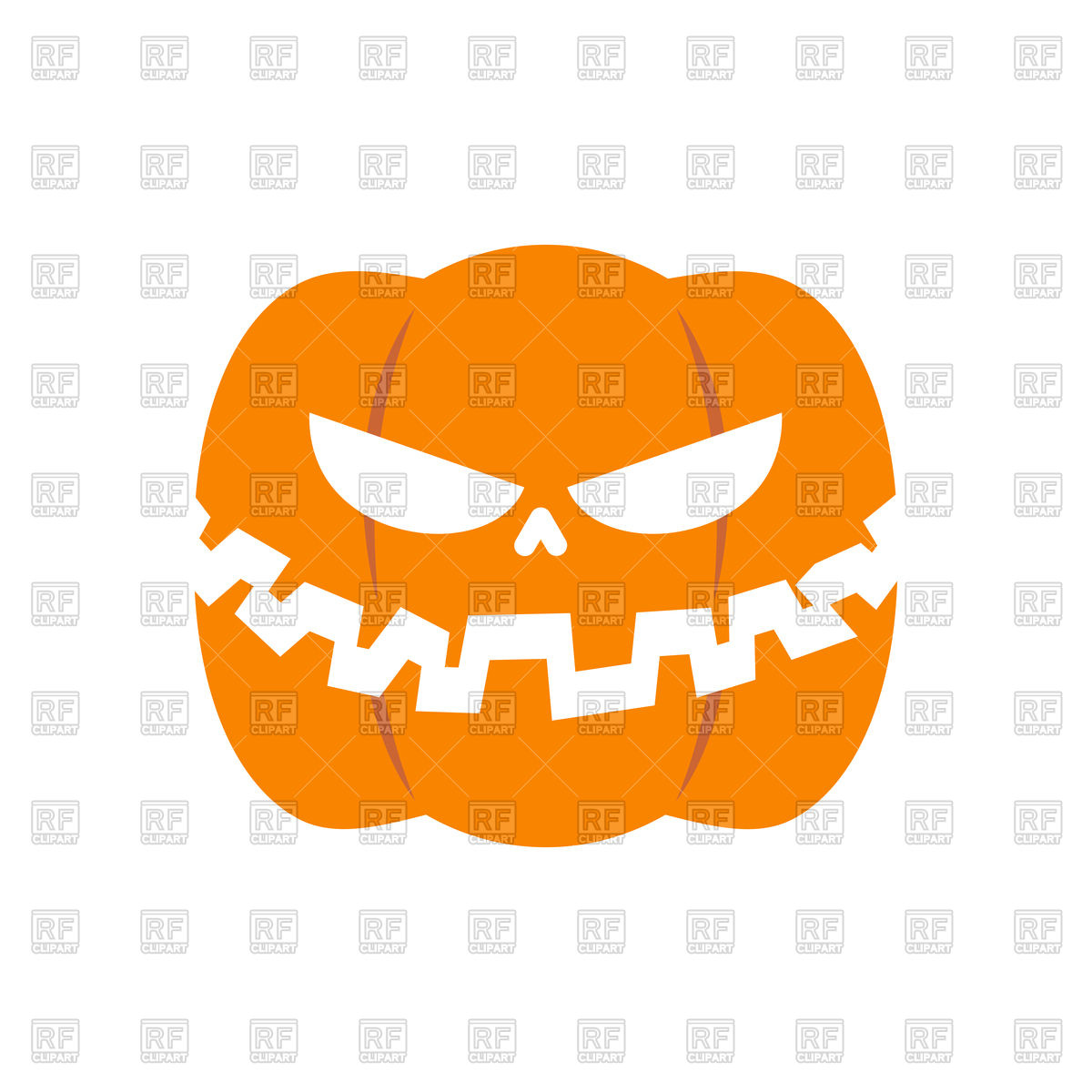Scary pumpkin for Halloween Stock Vector Image.