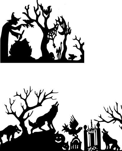 17 Best images about halloween silhouettes on Pinterest.