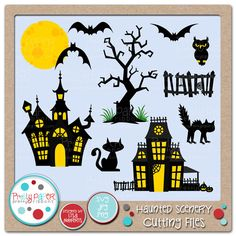 haunted house pattern to make an easy cutout. use bristal board.