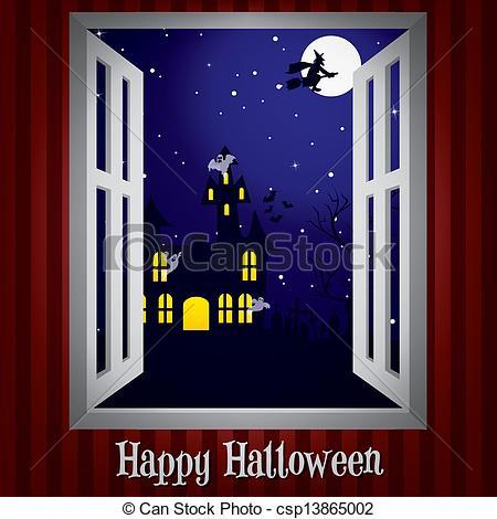 Vector Clipart of Happy Halloween!.
