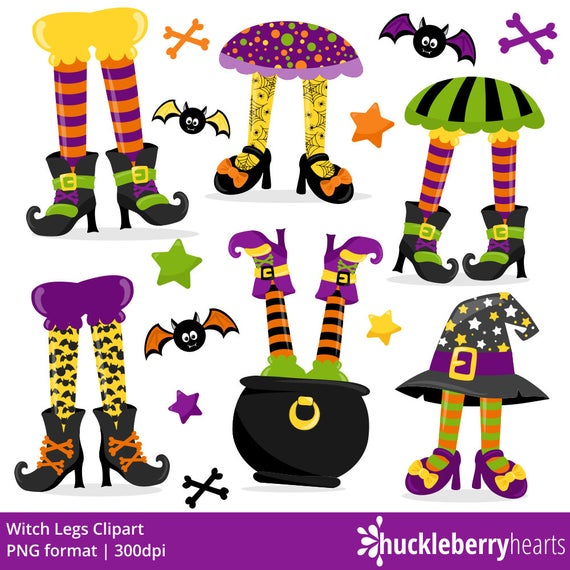 Halloween Clipart, Witch Legs Clipart, Witch Clipart, Halloween, Printable,  Commercial Use.