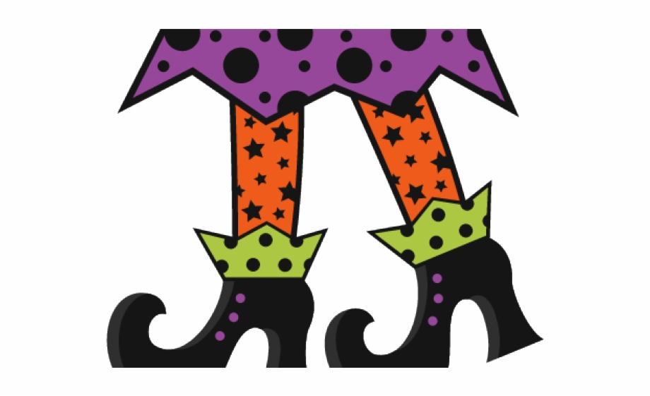 Halloween Witch Legs Clipart Free PNG Images & Clipart Download.