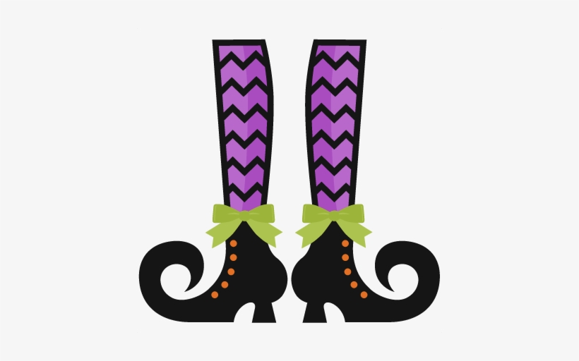 Legs Clipart Cute Halloween Witch.