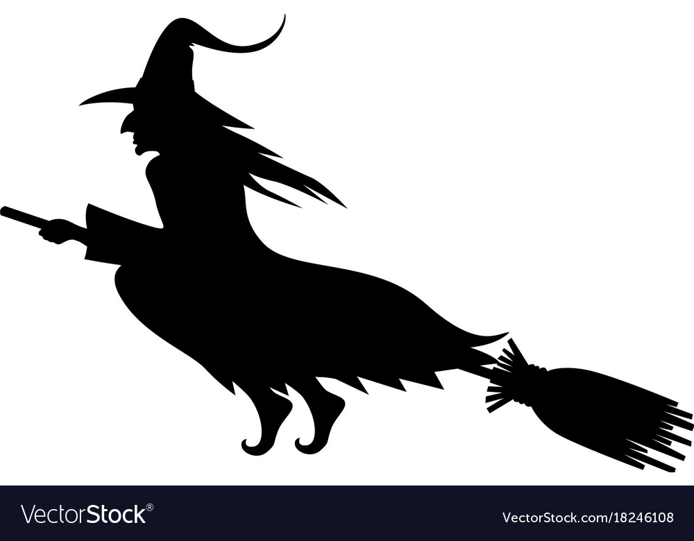 Wicked halloween witch silhouette.